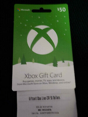 Gift certificate  XBOX $50