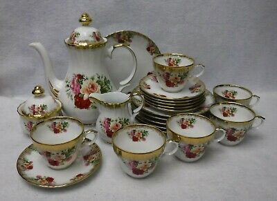 RETSCH & Co Germany china THREE ROSES 23-piece Coffee or DESSERT SET for Six (6)