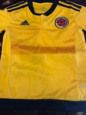7ebd366c8 COLOMBIA ADIDAS SOCCER Jersey Boys Youth Small National Team World ...