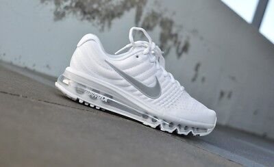 dfdbcf82bb Nike Air Max 2017 GS Running Shoes Youth Casual Street White-Platinum 851622 -100