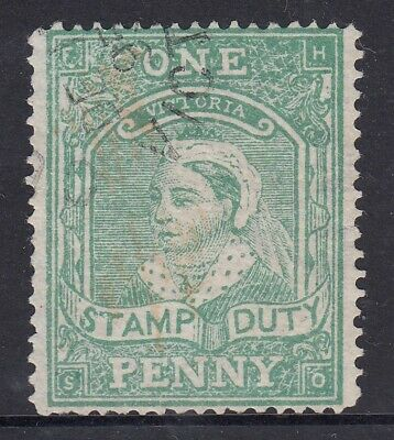 Victoria   1d Green Stamp Duty  used