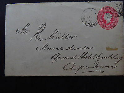 Cover South Africa Cape of Good Hope Capetown Embossed One Penny 1893