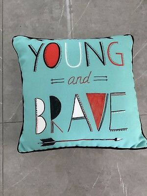 Adairs Kids Baby Young And Brave Decor Pillow Cushion Playroom Bedroom
