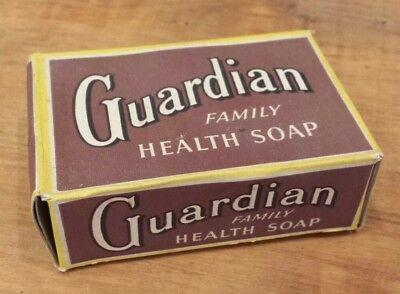 Guardian Family Health Soap in original box 1940s unopened unused great graphics