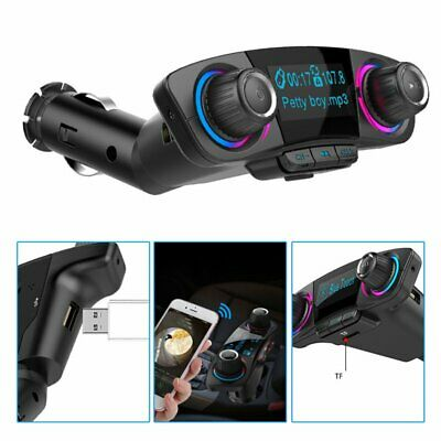 Bluetooth Handsfree Car FM Transmitter Modulator Aux Audio USB Music Play TU