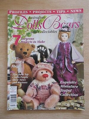 ADB&C Vol 9 #8~Doll & Bear Patterns~Bart~Grace~Harriet~Patricia~Henry~Annie May