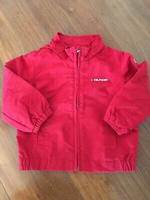 Tommy Hilfiger Boys Bomber Jacket, Red, Size 2