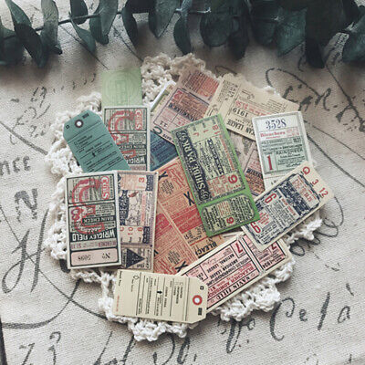 22Pcs/pack Vintage ticket stickers scrapbook DIY diary albums notebook decor ^S