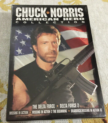 New 5 Dvd Set Chuck Norris American Hero Collction Delta Force Missing Action