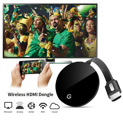 Per Chromecast 2 WiFi HDMI Mirror Screen Dongle YouTube Netflix Miracast