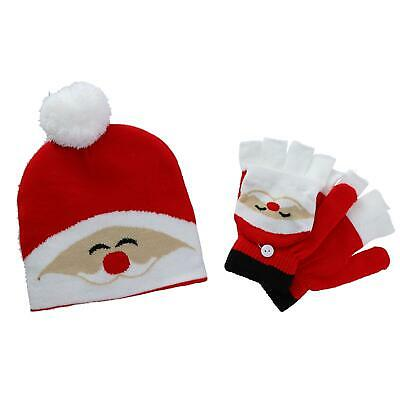 New CTM Kids' Winter Themed Hat and Convertible Glove Set
