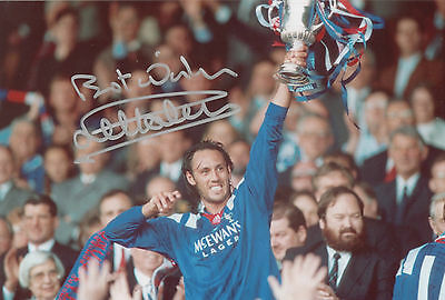MARK HATELEY Signed 12x8 Photo RANGERS & ENGLAND Legend COA