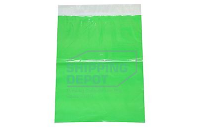 100 10x13 GREEN Colored Boutique POLY MAILERS Self Seal Bags SHIPPING DEPOT