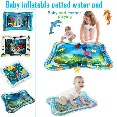 Baby Water Play Mat Inflatable For Infants Toddlers Fun Tummy Time Sea World PP