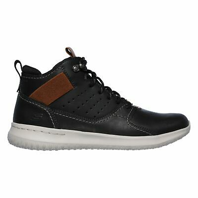 SKECHERS DELSON VENEGO Men's Leather Casual Mid Cut Boots