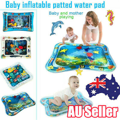 Baby Water Play Mat Inflatable For Infants Toddlers Fun Tummy Time Sea World LG