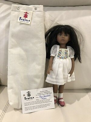Boneka Monday's Child Sculpted By Dianna Effner LE (#2 Of 50) Dark Skin