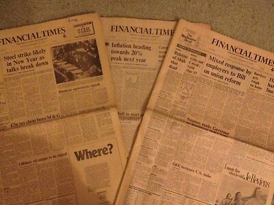 Financial Times Newspaper 7th 14th 21st 28th April & 5th 12th 19th 26th May 1990