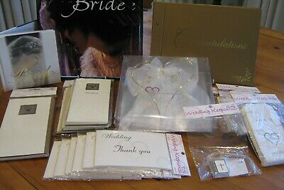 Wedding Accessories Pack .Invitations. Thankyous. Ring Carrier. Cake Bags. Books