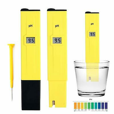 Electric Pocket Digital Ph Meter Tester Hydroponics Pen Yellow, Aquarium, Pool.