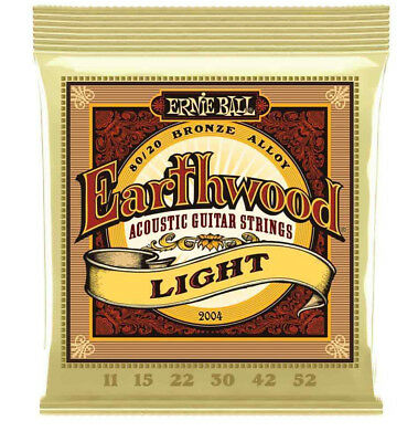 *Ernie Ball Earthwood Light 80/20 Bronze Acoustic Set, .011 - .052