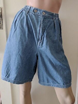High Waist 80s Baggy Pleated JAG Denim SHORTS (Vint sz 12/ fit zs S today)