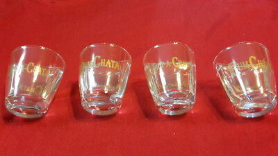 4 RumChata Shot-A-Chata Split Shot Glasses with Drink Recipes FREE SHIPPING!