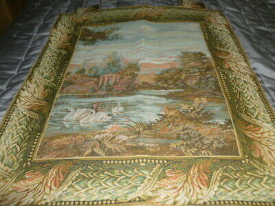 Stunning vintage style tapestry wall hanging country garden design
