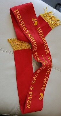 Holbrook Annual Show - Equestrienne Turnouts 18 yrs & Over - Red Felt