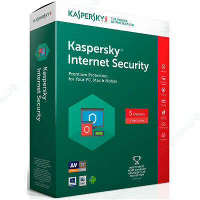 Kaspersky Internet Security 2019 MD 5 Devices 1 YR Global Worldwide