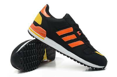 Adidas ZX 700 G96512 Mens Laced Synthetic Suede & Nylon Trainers Black Orange