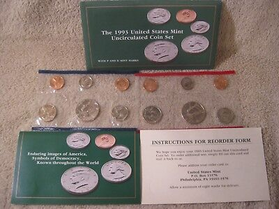 1993 UNCIRCULATED Genuine U.S. MINT SETS ISSUED BY U.S. MINT