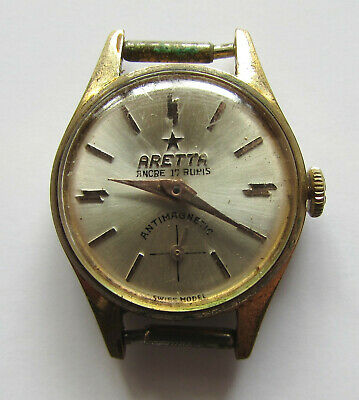 Very Rare Old Vintage Gold-plated Swiss Women's watch - ARETTA 1960's/NOT WORKS
