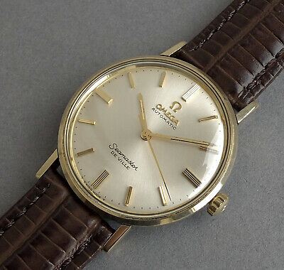 OMEGA SEAMASTER  DE VILLE 14K Solid Gold Gents Vintage Automatic Watch 1960's