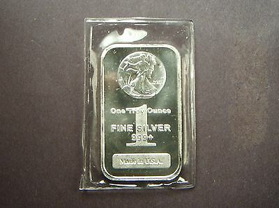 AMERICAN WALKING LIBERTY STAMP ON BAR One Troy Ounce .999+ Fine Silver  TX-117