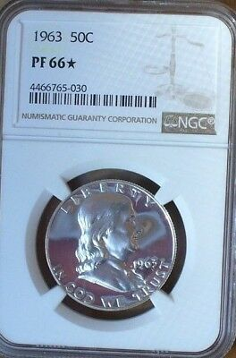 1963 FRANKLIN Half dollar Proof  NGC PF 66* Looks Cameo to Me
