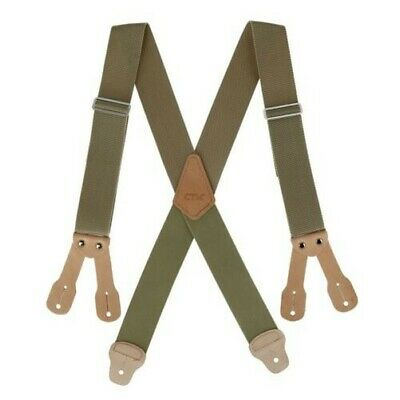 New CTM Men's 2 Inch Wide Non-Elasticized Construction Button-End Suspenders