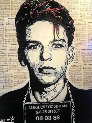 "Alec monopoly ""Frank Sinatra"" ,Handcraft Oil Painting on Canvas ,24x32inch"