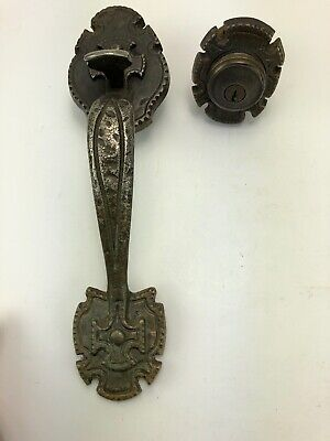 Vintage Gothic Solid Hammered Metal Door Handle Thumb Latch Heavy Midevil