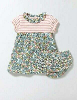 Baby Boden Hotchpotch Dress & Pants set 0-4 years Floral or Bunny pretty collar