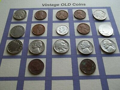 Estate Lot of Old Coins 50 to 125 Years Old with Some Silver  17 Coins  (OC12)