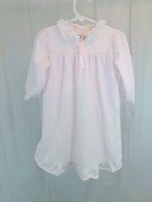 Vintage Sears Baby Girls Silky Polyester Nightgown Pajamas 18 Months Lightweight