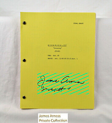 "James Arness  Marshal Dillon Gunsmoke Original Script 1962  ""Coventry""   Signed"