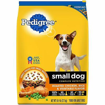 New Pedigree Small Breed Adult Dry Dog Food, Chicken, 15.9 lbs. Bag