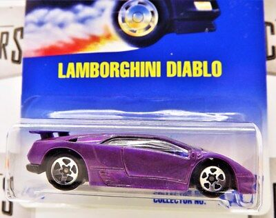 Hot Wheels Lamborghini Diablo Purple Gold Medal Speed 1992 Collector