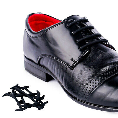 Smart No Tie Silicone Shoelaces Dress Formal Shoe Laces Round Laces Black&Brown