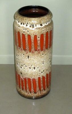 "Extra Large Mid Century Modern West German Pottery Vase 17"" Tall"