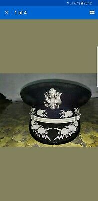 USAF GENERAL OFFICER PARADE CAP HAT ship in  3 days time all size available