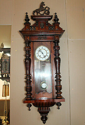 Antique Wall Clock Vienna Regulator 19th century *WERNER DEPONIRT*117 cm heigth