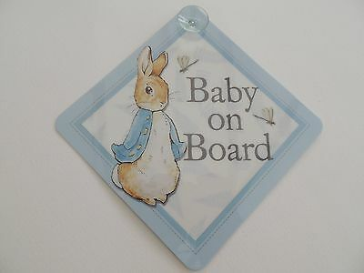 Peter Rabbit Baby on Board Car Sign/Window Wobblers - Beatrix Potter Centenniala